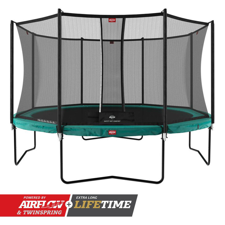 BERG Champion Regular 430 Trampoline + Safety Net Comfort - Green