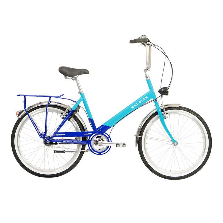 "Raleigh Hoppa City Bike - Purple and Teal 17"""