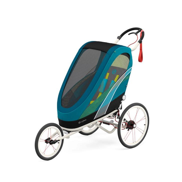 Cybex Sport Zeno - Creme/Orange Frame- Mali Blue Seat Pack