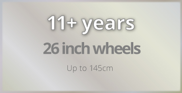 11+ years old kids bike size