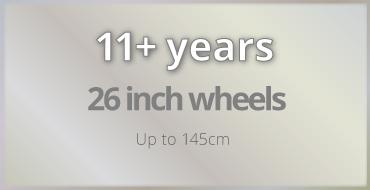11+ years old kids bike size