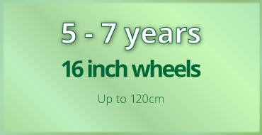 5-7 years old kids bike size