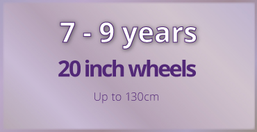 7-9 years old kids bike size