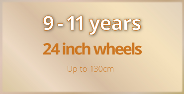9-11 years old kids bike size