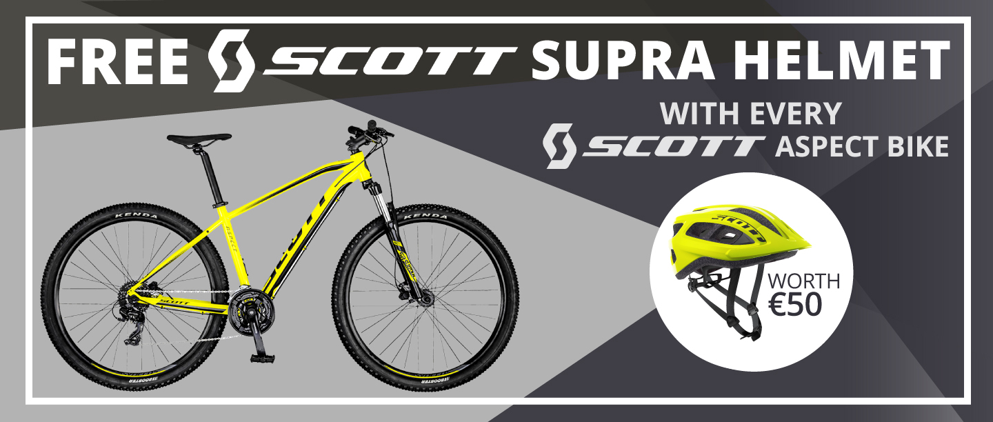 Free Scott Supra Helmet with Scott Aspect Bikes in Eurocycles
