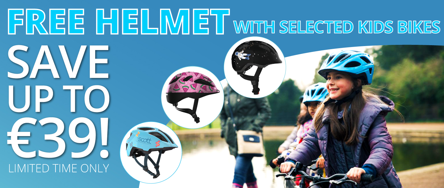 Free Kids Helmet with the purchase of a Kids bikes in Eurocycles