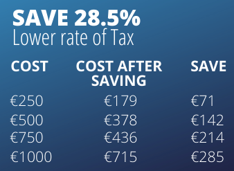 Lower tax savings