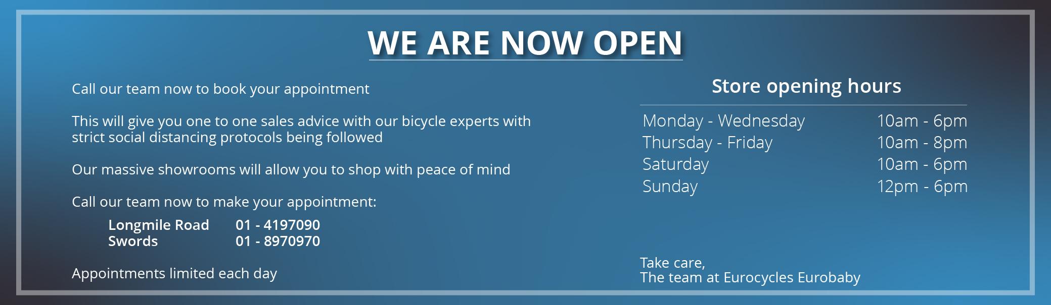 bike shop back open