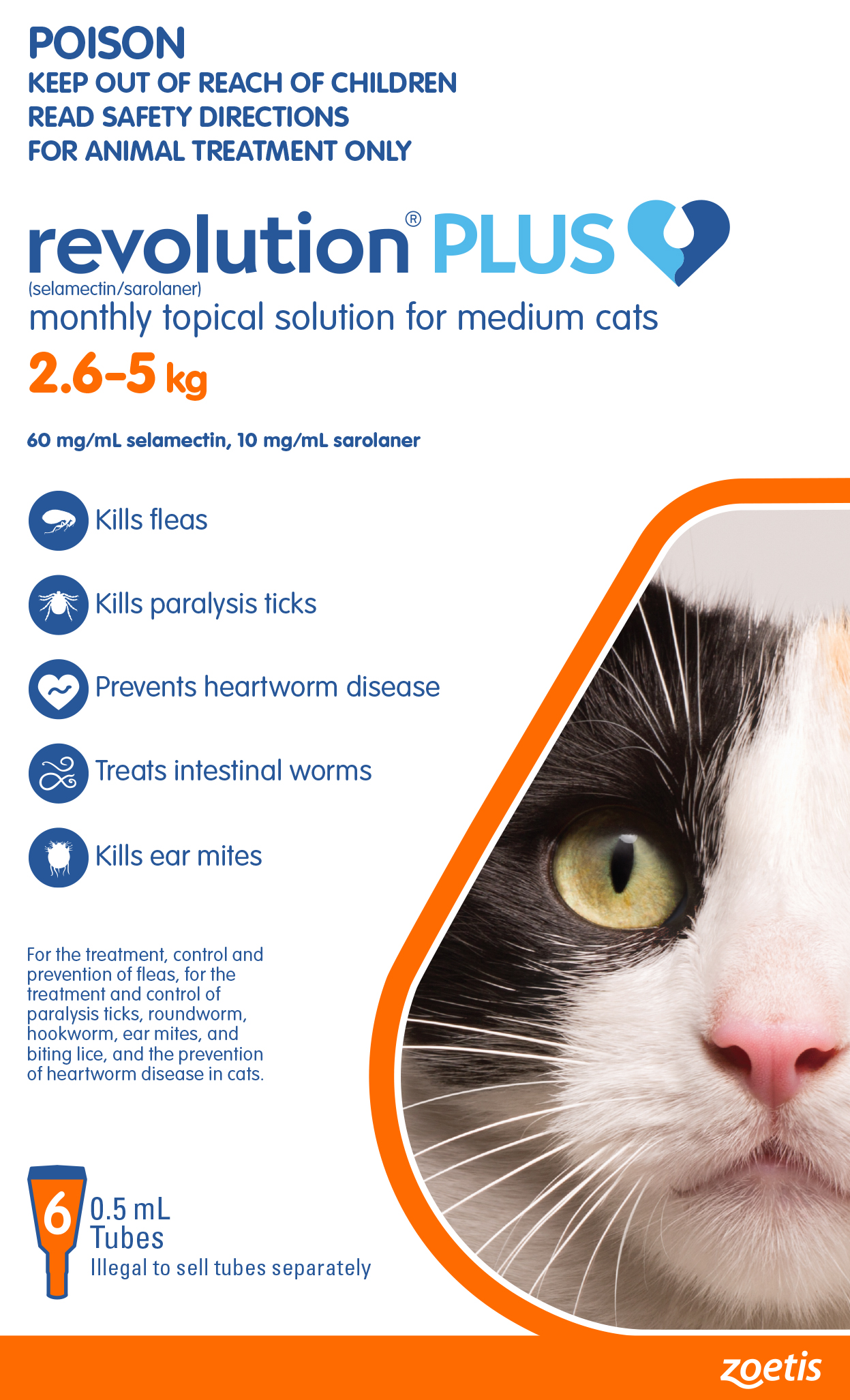 Revolution Plus Flea Tick Worming Cats Orange