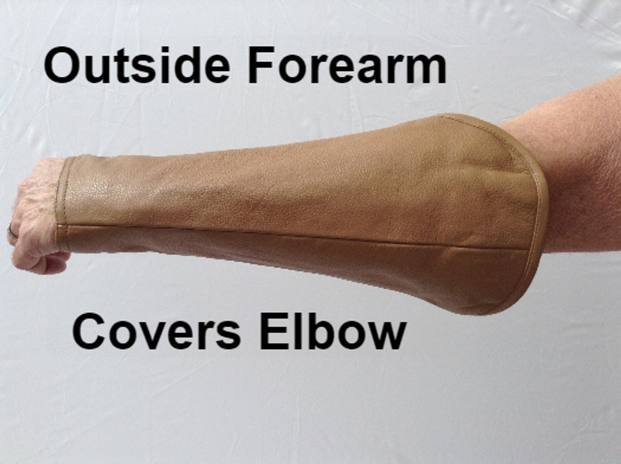 Welding Arm Chaps in Light Brown (starting at per pair)