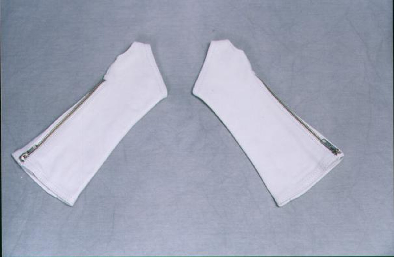 White Leather Arm Chaps