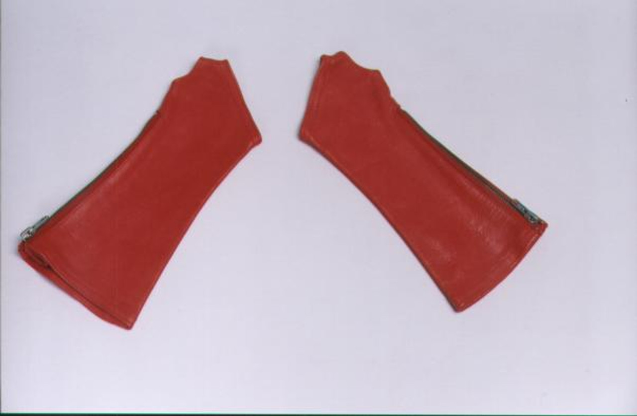 Red Leather Arm Chaps