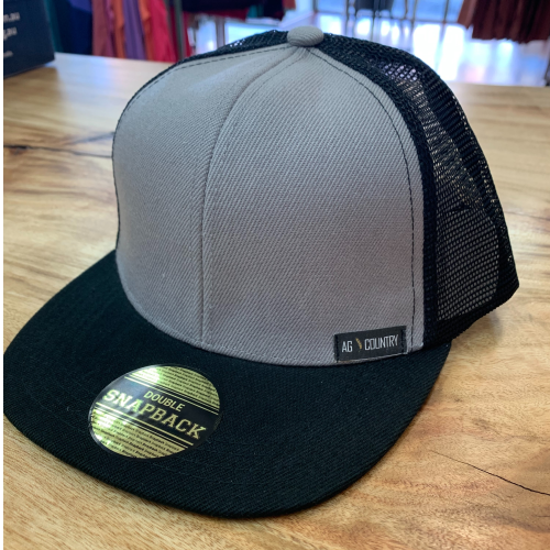 AG Country Double Snap Back Grey Kids