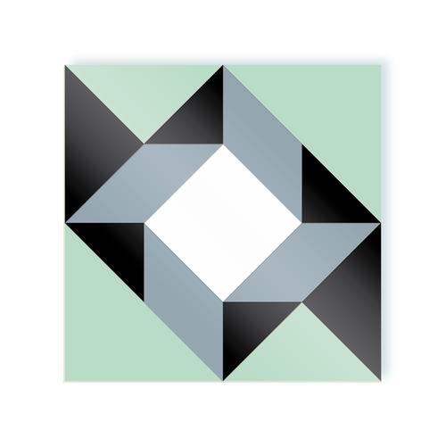 Rombo A Liquorice and Mint moodulor adhesive tiles 1