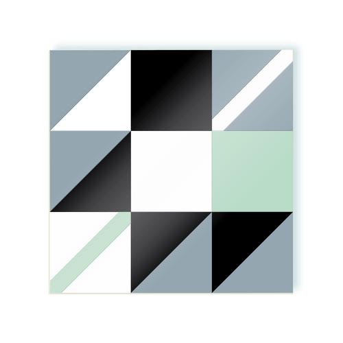 Diagonale B Liquorice and mint moodulor