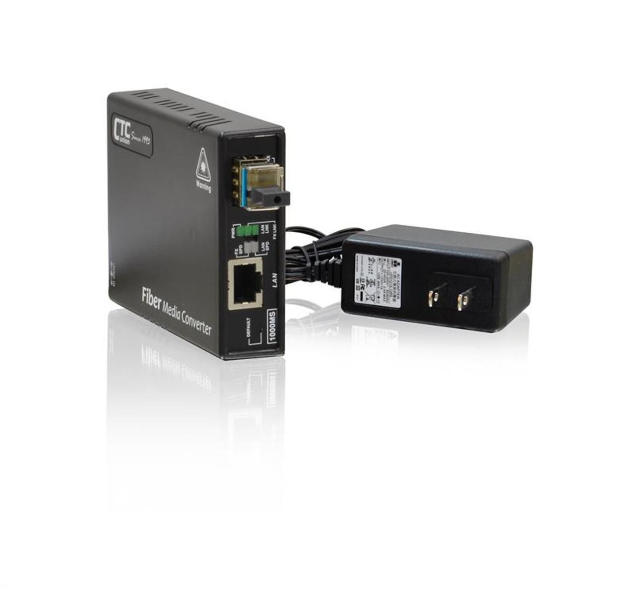 web managed FMC-1000MS Gigabit Ethernet 10//100//1000BaseTx to dual speed SFP slot fiber media converter