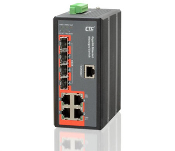 ES3510 - Fast Ethernet 8+2G combo ports, managed switch