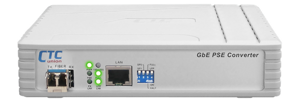 OFC-1000PSE PoE Gigabit media converter (15.4W of PSE)