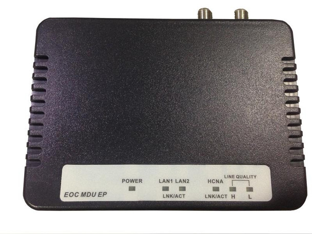 EOC-30S - Ethernet over Coax LAN Extender, managed client unit over a coaxial segment using EoCNA, shares cable with CATV