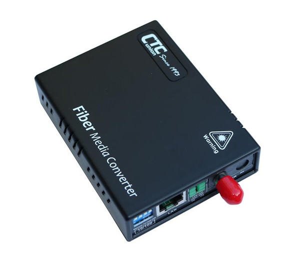 FMC-10-100-ST20B Fast Ethernet single strand BiDi fiber media converter, ST connector, 20Km B type