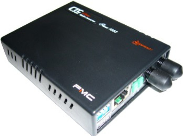 FMC-10-100-ST002 Fast Ethernet multimode fiber media converter, ST connector, 2Km