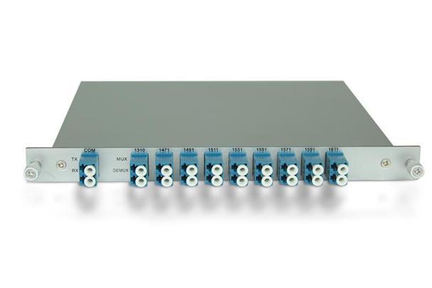 CWDM mux/demux filter, 8+1 duplex channels over fiber(with 1310nm pass through port) (RB5-MD81D-47-LCU)