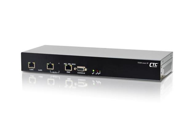 IPM-1T1 - Single T1 over IP/Ethernet extender - TDM over Ethernet - redundant AC and DC48V power supplies