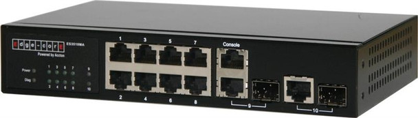 ES3510MA - Fast Ethernet 8+2G combo ports, managed switch