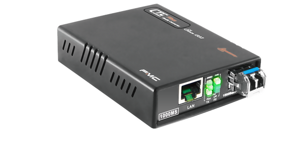 FMC-1000MS-SM40 Gigabit Ethernet 1000Base-LHX singlemode fiber media converter, 40Km, web managed