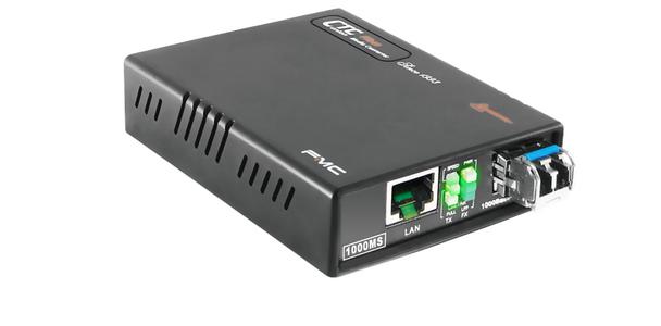 FMC-1000MS-SM80 Gigabit Ethernet 1000Base-ZX singlemode fiber media converter, 80Km, WebSmart managed