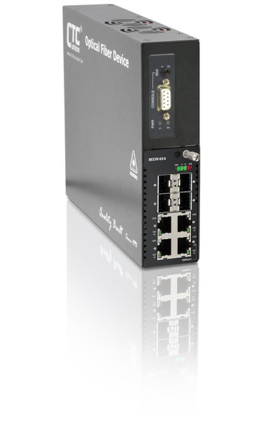 FRM220-MSW404 Gigabit Ethernet EDD switch (Ethernet Demarcation Device) for Metro Ethernet networks w/ full 802.3ah OAM support (NID)