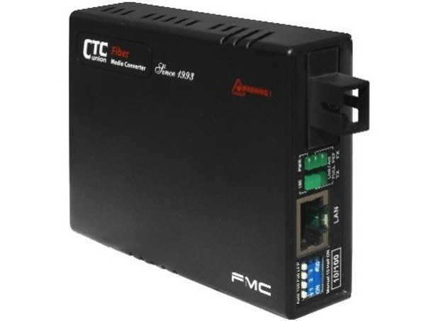 FMC-10-100-SC20B Fast Ethernet single strand BiDi fiber media converter, SC connector, 20Km B type