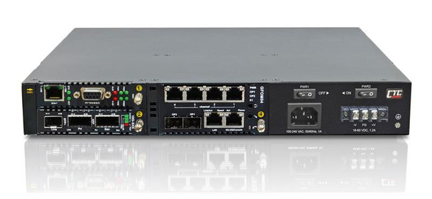 """FRM220-CH04-AC - 4 slot fiber chassis with AC power and network management options, rack 19"""" mountable, 1U"""
