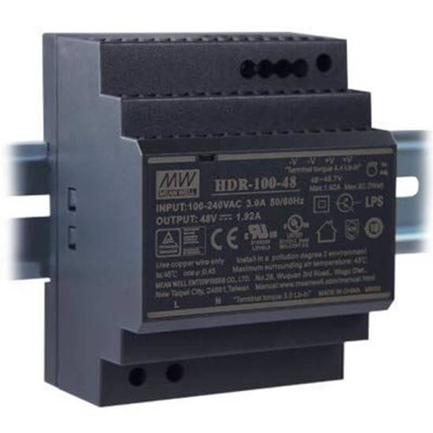 HDR-10048 AC to DC 48V 100W Industrial DIN rail power supply