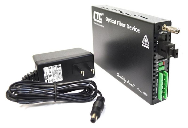 FRM220-SERIAL-SC02A - RS-232, RS-485, RS-422 over multimode single strand fiber BiDi media converter, 2Km, A type
