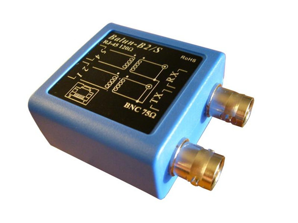Balun-B2S impedance adapter 75Ohms to 120Ohms -perspective view