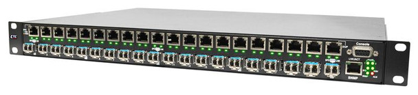 "PHB-200M-AA - Gigabit 20 port SFP managed patching hub, 10/100/1000Base-TX to 100/1000Base-X SFP, SNMP, rack 19"", redundant AC power"