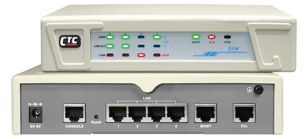 EFM-40 G.shdsl.bis 8-wire LAN Extender - 22.8Mbps Ethernet bridge modem - up to 4.9mi loop length on 26 AWG wires
