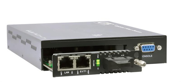 FRM220-FOM01-AC - one E1/ T1 with full Fast Ethernet, SFP slot uplink Fiber Optic Multiplexer - AC power