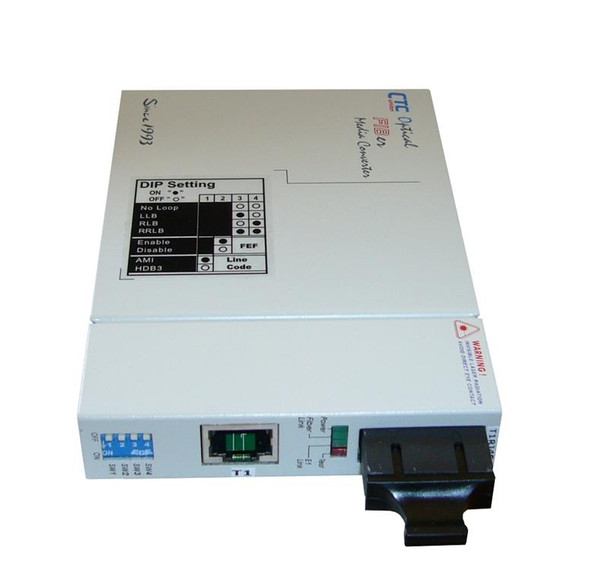 FIB1-T1R-SC2F - T1 RJ45 100ohm to multimode 1310nm fiber optic media converter (T1 modem), 2Km