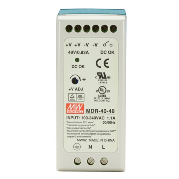 MD-4048 AC to DC 48V 40W Industrial DIN rail power supply
