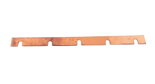 DIN-GBAR-5 - all copper grouding/earthing busbar for up to 5 POE-01-DIN protectors common ground connectivity