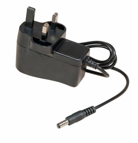 AC adapter with UK style plug for 12V DC, 1A output