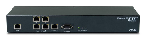 IPM-4T1 - Four T1 over IP/Ethernet extender - TDM over Ethernet - redundant AC and DC48V power supplies