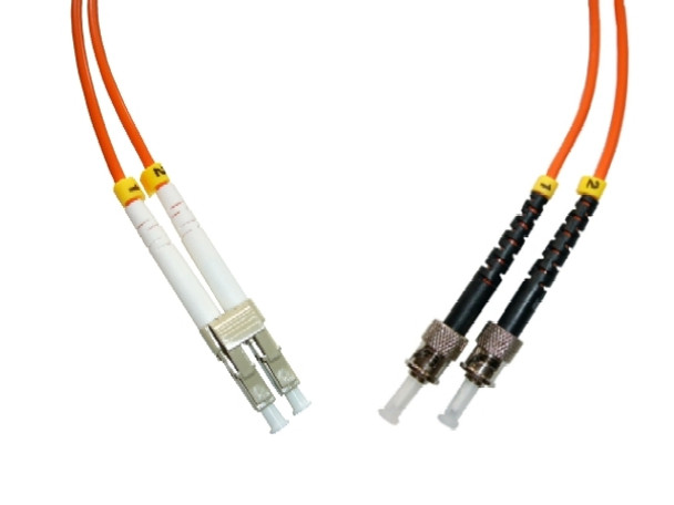 LCP-STP-MD5 - LC/PC to ST/PC, multimode 50/125 duplex fiber optic patch cord cable