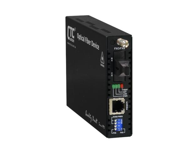FRM220-FXO-FXS-SC02B POTS (RJ11) over multimode single strand fiber converter, telephone line extender, SC 2Km, B type