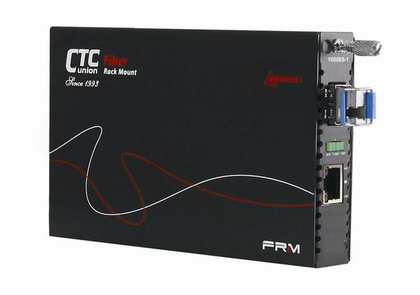 FRM220-1000MS-SM80 Gigabit Ethernet to 1000Base-ZX singlemode fiber media converter, 1550nm LC 80Km, managed