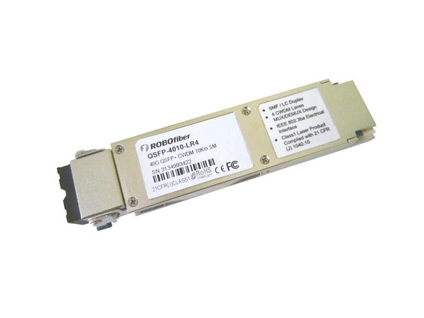 QSFP+ 40G LR4 optical module, single-mode, CWDM 4 aggregate 10G channels, 10Km