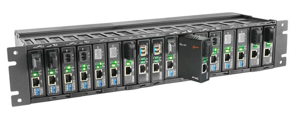 FMC-CH17-AC - 17 slot fiber chassis with single AC power and fans