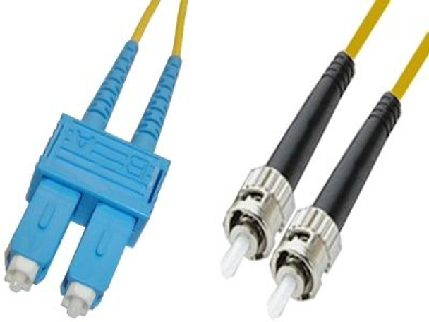 SCP-STP-SD9 - SC/UPC to ST/UPC singlemode 9/125 duplex fiber optic patch cord cable